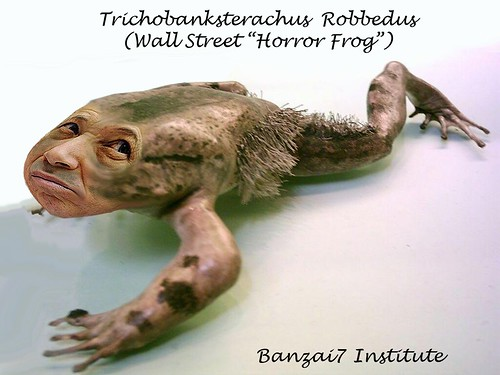 WALL STREET HORROR FROG (ASS SEEN ON THE KEISER REPORT) by Colonel Flick/WilliamBanzai7