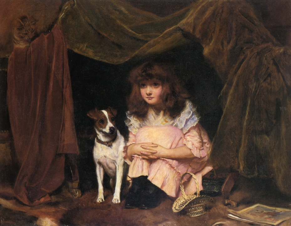 The Hiding Place by Charles Burton Barber, 1891