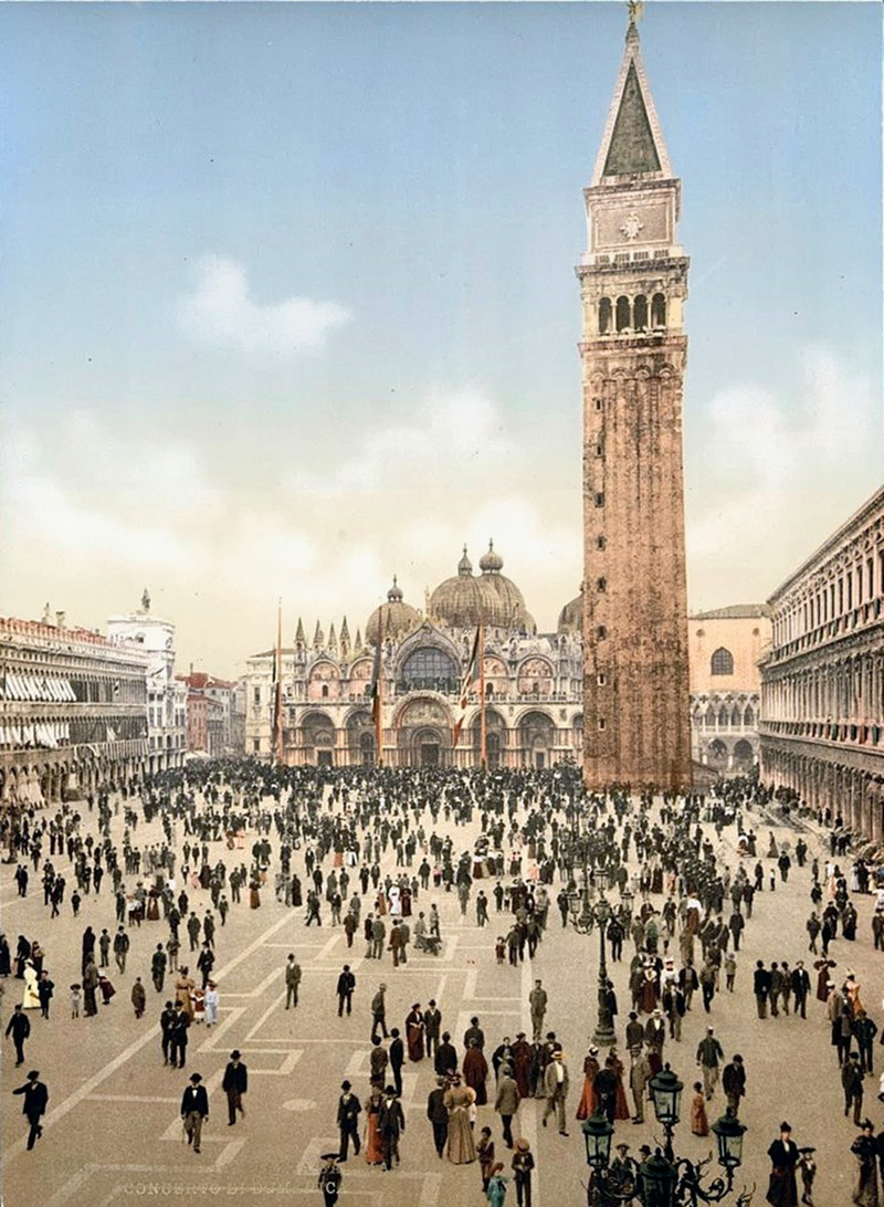 Concert in St. Mark's Place, Venice, Italy