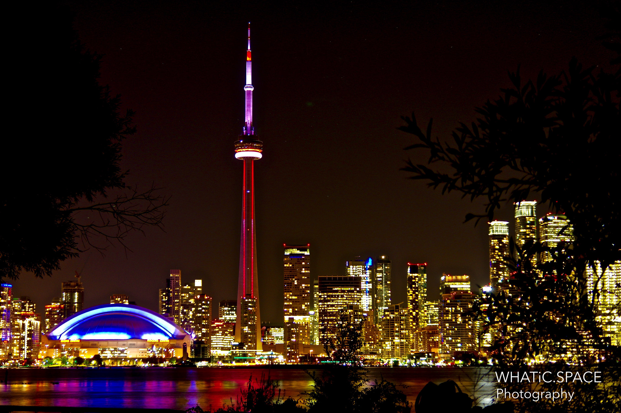 Toronto Island Night View Dark Amp Lights Magic
