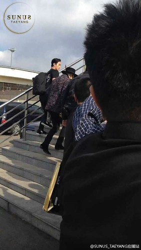 Big Bang - Harbin Airport - 22mar2015 - Tae Yang - SUNANDUS - 03