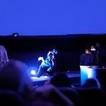 During Sammy Chien's performance art piece
