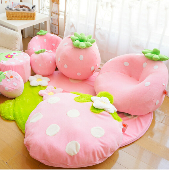 pink big bean bags