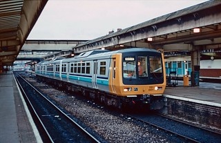 Prototype DMU set 151 001 at Derby. 22/08/85.