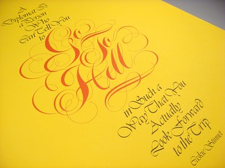 Lubalin poster set, print #4: Go To Hell poster