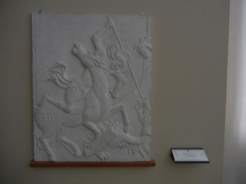 DSCN3269 _ Rilievo tattile dell'opera di  San Giorgio libera la principassa,Vitale da Bologna, Pinacoteca  Nazionale, Bologna
