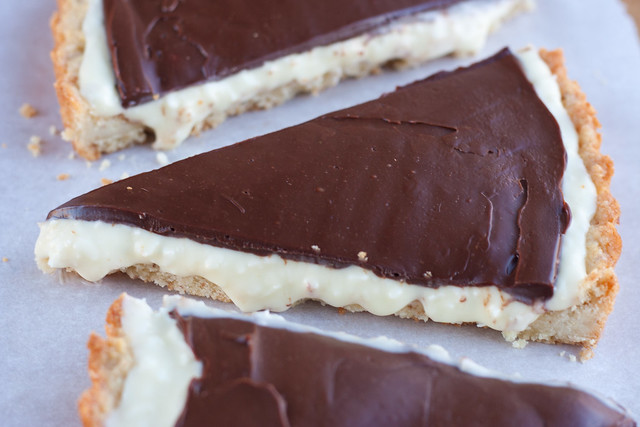 white chocolate coconut ganache tart