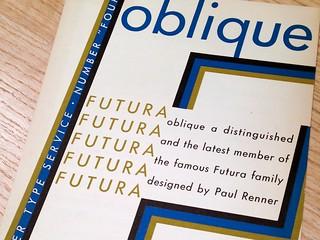 Futura Oblique type specimen brocure