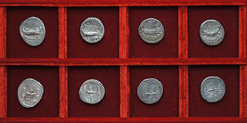 RRC 544-21-22-23-24 LEG VIII, LEG VIIII, LEG IX, LEG X Antony legions, Ahala collection Roman Republic