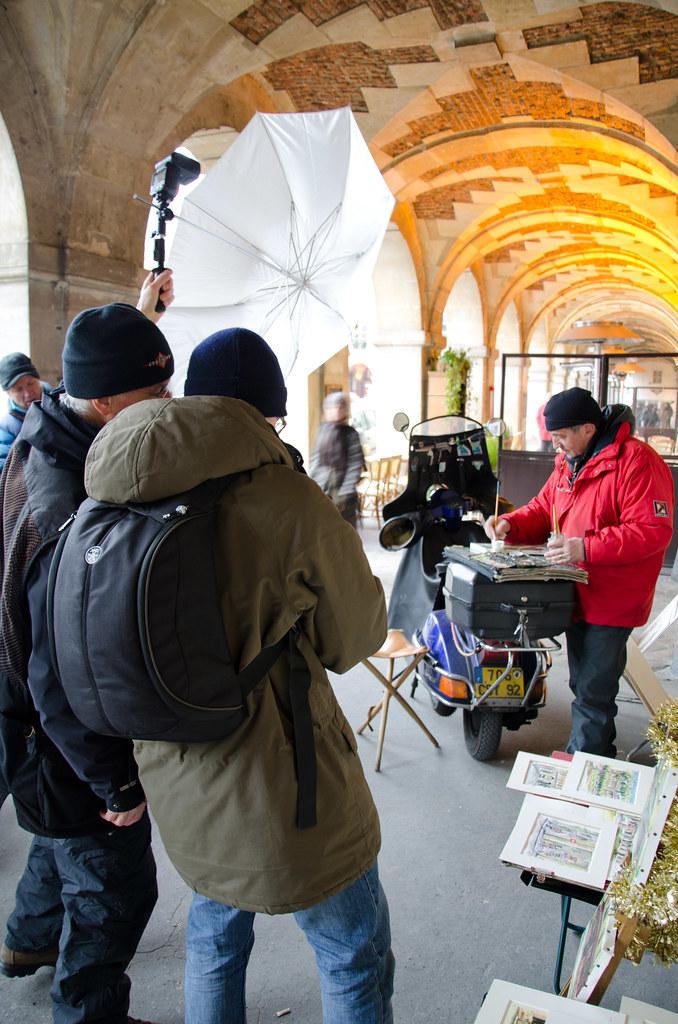 Shooting en extérieur avec Gérard Planchenault