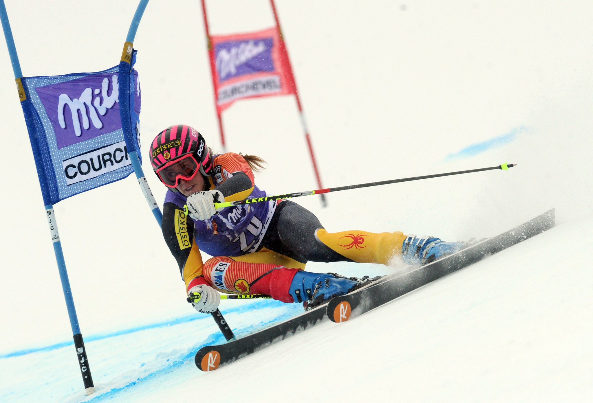 Marie-Michèle Gagnon during World Cup giant slalom in Courchevel, France.
