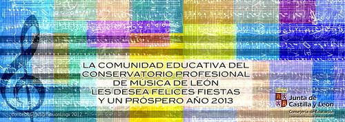 FELICITACIÓN DE NAVIDAD DEL CONSERVATORIO DE MÚSICA DE LEÓN