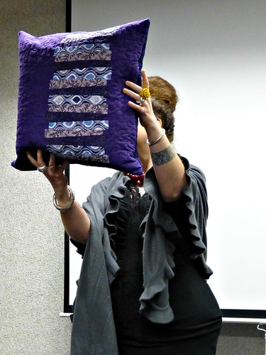 Jo-Anne with pillow