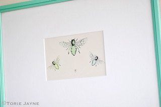 Honey bee art by Little bean Prints