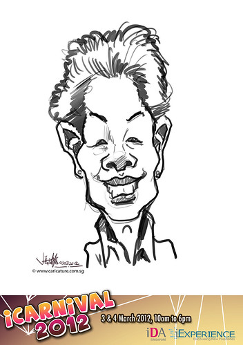digital live caricature for iCarnival 2012  (IDA) - Day 1 - 6