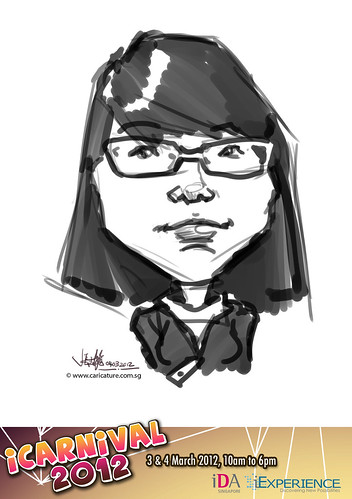 digital live caricature for iCarnival 2012  (IDA) - Day 2 - 14