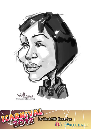 digital live caricature for iCarnival 2012  (IDA) - Day 2 - 79