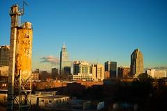 Raleigh Skyline at sunset