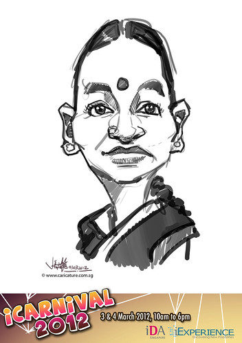 digital live caricature for iCarnival 2012  (IDA) - Day 1 - 100
