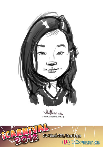 digital live caricature for iCarnival 2012  (IDA) - Day 2 - 49