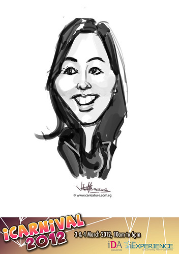 digital live caricature for iCarnival 2012  (IDA) - Day 2 - 64