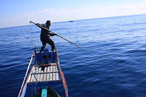 鏢魚是較友善環境的漁法,但技術門檻高,漁獲量也較少,故運用此種漁法的人越來越少。攝影:廖律清
