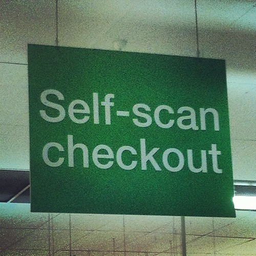 I was going to try 'self-scan', but couldn't find my barcode #shopping