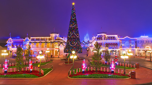 Silent Night on Main Street at Christmas