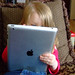 Izzy playing on the ipad