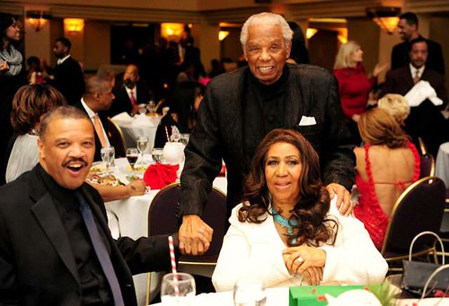 Aretha Franklin Christmas Party at the Greek Town Casino Hotel in downtown Detroit on December 22, 2012.  Franklin was joined by Willie Wilkerson and Judge Damon Keith. by Pan-African News Wire File Photos
