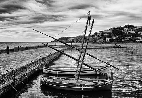 Barcas en el puerto de Colliure