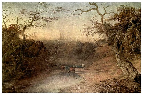 023-Vista a distancia de la catedral de Lichfield 1798-The water-colours  of J. M. W Turner-1909