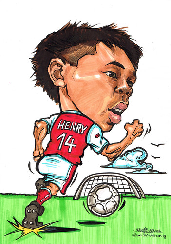 soccer player caricature Thierry Henry 14