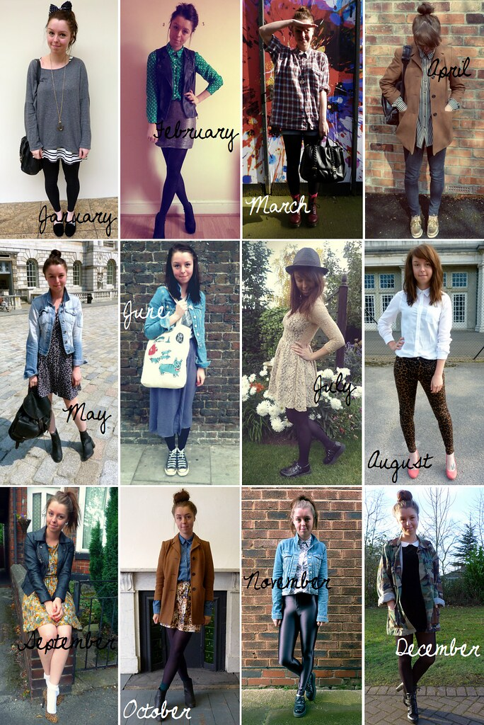 A year in outfits - 2012