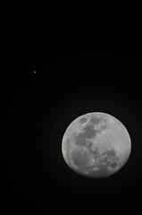Moon + Jupiter - Christmas 2012