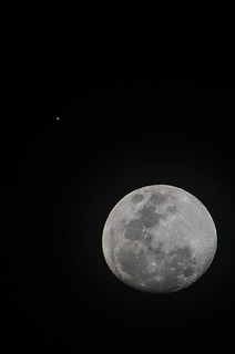 Moon + Jupiter - Christmas 2012