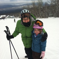 Skiing with Ingrid at sugarloaf! Great day!