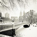 New York Winter -  Central Park Snow at Bow Bridge by Vivienne Gucwa