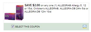 $2.00/1 Allegra Allergy 5, 12 Or 15ct, Children\