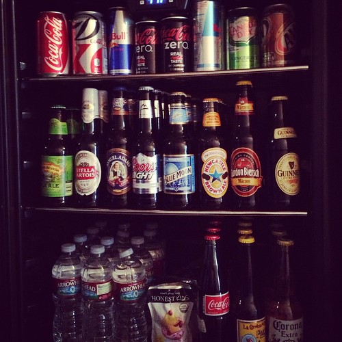 Our friends' amazing drink fridge