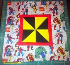 Marvel Heroes Pinwheel Pillow