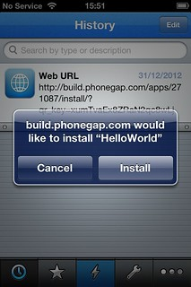 PhoneGap Build download