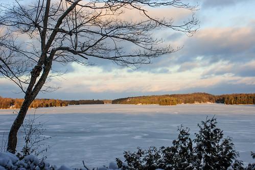sunset snow ontario ice clouds opinicon southfrontenac