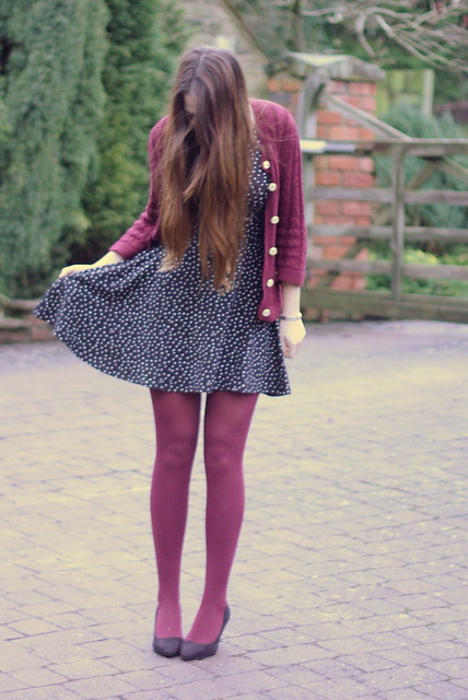 Starry Chicwish Dress Burgundy Tights Asos