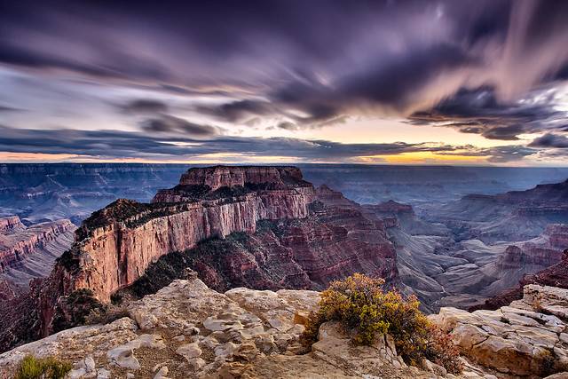 Purple Movement over North Rim at Grand Canyon