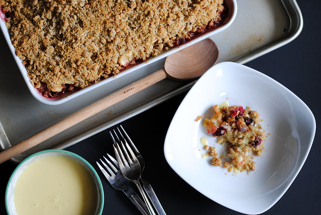 Gluten-Free Rosemary Apple Cranberry Crisp