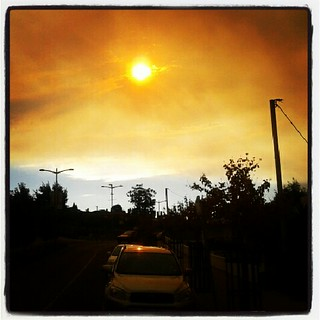 Bushfire Smoke Over Kingston, Tasmania