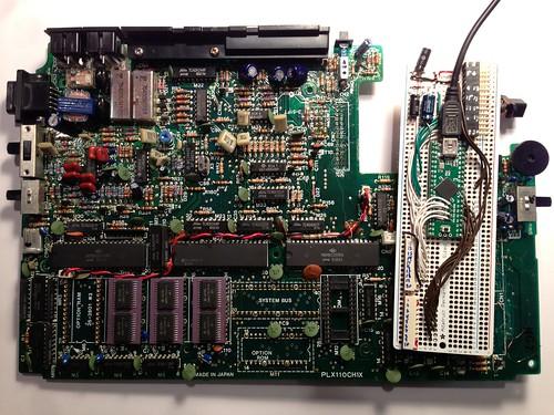 TRS-80 Model 100 motherboard versus Teensy++ version