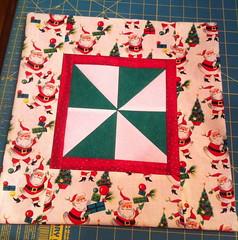 Retro Santa Pinwheel Pillow