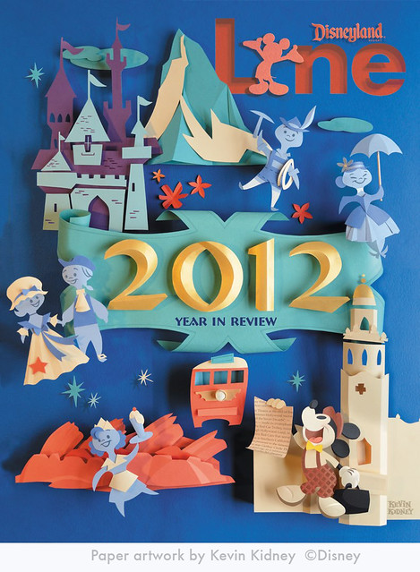 Kevin Kidney paper art Disneyland